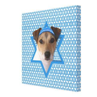 Estrella de Jánuca de David - Jack Russell Terrier Impresión En Lona Estirada
