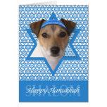 Estrella de Jánuca de David - Jack Russell Terrier Felicitacion