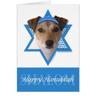 Estrella de Jánuca de David - Jack Russell Terrier Tarjeta