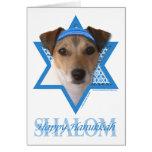 Estrella de Jánuca de David - Jack Russell Terrier Tarjetas