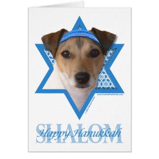 Estrella de Jánuca de David - Jack Russell Terrier Tarjeta De Felicitación
