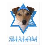 Estrella de Jánuca de David - Jack Russell Terrier Postal