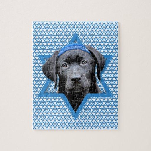 Estrella de Jánuca de David - Labrador negro Puzzles
