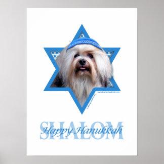Estrella de Jánuca de David - Lowchen Posters