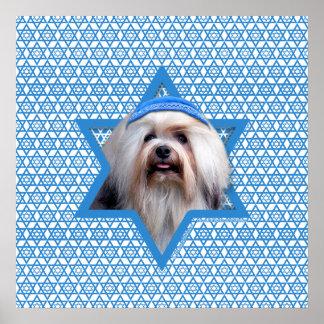 Estrella de Jánuca de David - Lowchen Poster
