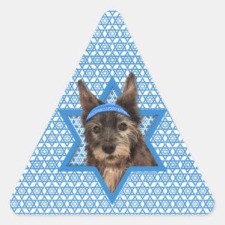 Estrella de Jánuca de David - mojón Terrier - Calcomanía De Triangulo