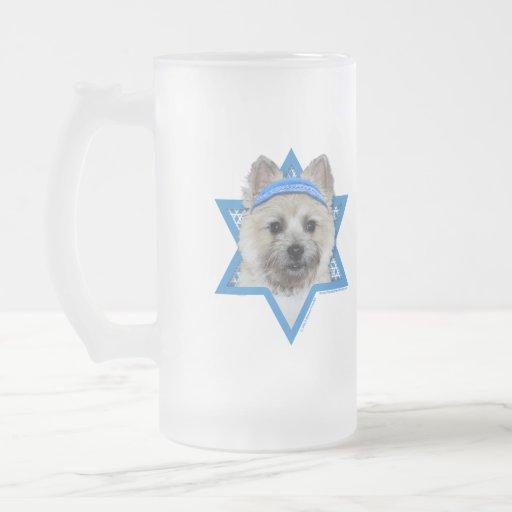Estrella de Jánuca de David - mojón Terrier - pelu Taza Cristal Mate