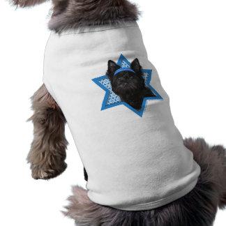 Estrella de Jánuca de David - mojón Terrier Roscoe Playera Sin Mangas Para Perro