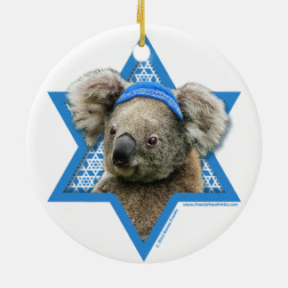 Estrella de Jánuca de David - oso de koala Ornamento Para Arbol De Navidad