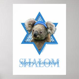 Estrella de Jánuca de David - oso de koala Impresiones