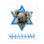 Estrella de Jánuca de David - oso de koala Postal