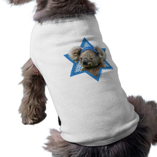 Estrella de Jánuca de David - oso de koala Camisa De Perro