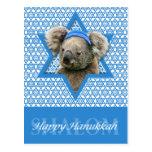 Estrella de Jánuca de David - oso de koala Tarjetas Postales