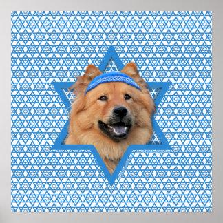 Estrella de Jánuca de David - perro chino de perro Impresiones