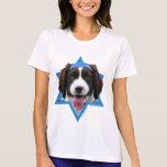 Estrella de Jánuca de David - perro de aguas de Camisetas