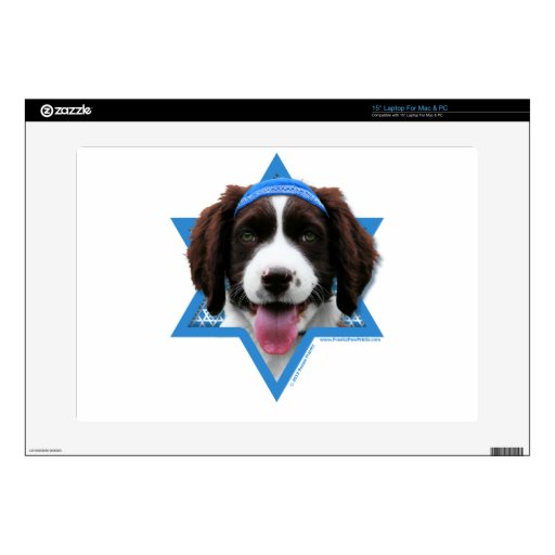 Estrella de Jánuca de David - perro de aguas de sa 38,1cm Portátil Calcomanía