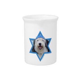 Estrella de Jánuca de David - perro pastor inglés  Jarra De Beber
