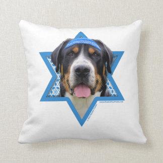 Estrella de Jánuca de David - perro suizo de la Cojín