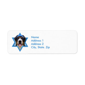 Estrella de Jánuca de David - perro suizo de la Etiquetas De Remite