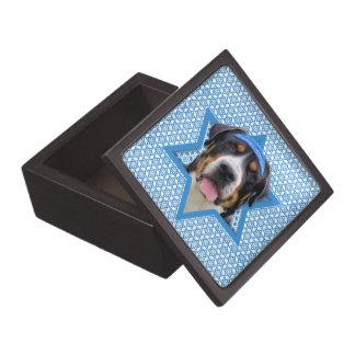 Estrella de Jánuca de David - perro suizo de la mo Cajas De Recuerdo De Calidad