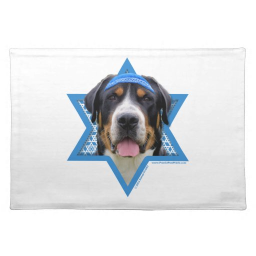 Estrella de Jánuca de David - perro suizo de la mo Manteles Individuales