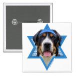 Estrella de Jánuca de David - perro suizo de la mo Pin