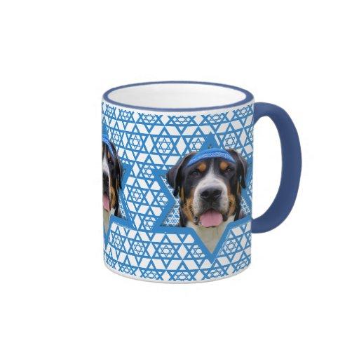 Estrella de Jánuca de David - perro suizo de la mo Tazas