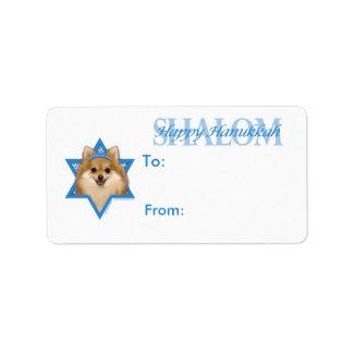 Estrella de Jánuca de David - Pomeranian Etiqueta De Dirección