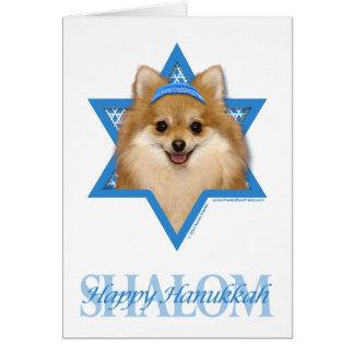 Estrella de Jánuca de David - Pomeranian Tarjeta De Felicitación