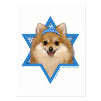 Estrella de Jánuca de David - Pomeranian Postal