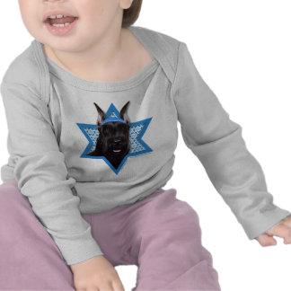 Estrella de Jánuca de David - Schnauzer Camiseta