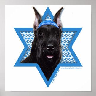 Estrella de Jánuca de David - Schnauzer Poster