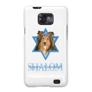 Estrella de Jánuca de David - Sheltie Galaxy S2 Fundas