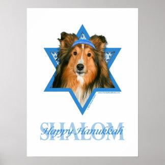 Estrella de Jánuca de David - Sheltie Posters