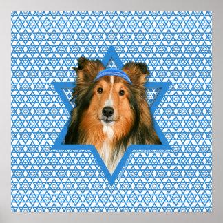 Estrella de Jánuca de David - Sheltie Impresiones