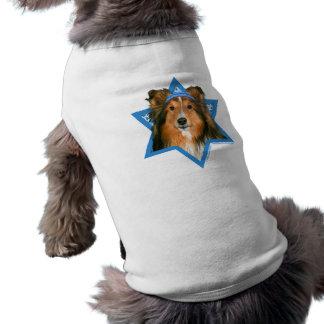 Estrella de Jánuca de David - Sheltie Playera Sin Mangas Para Perro