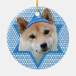 Estrella de Jánuca de David - Shiba Inu Adorno De Navidad