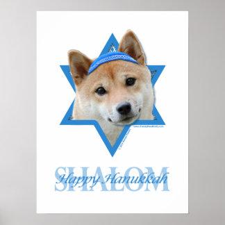 Estrella de Jánuca de David - Shiba Inu Impresiones