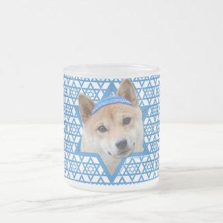 Estrella de Jánuca de David - Shiba Inu Tazas De Café