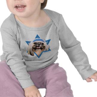 Estrella de Jánuca de David - Shih Tzu - ópalo Camiseta