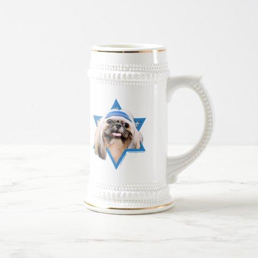 Estrella de Jánuca de David - Shih Tzu - ópalo Taza De Café