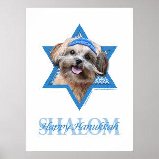 Estrella de Jánuca de David - ShihPoo - Maggie Poster