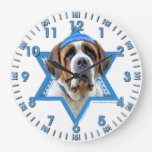 Estrella de Jánuca de David - St Bernard Relojes De Pared
