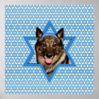 Estrella de Jánuca de David - Vallhund - oso Poster