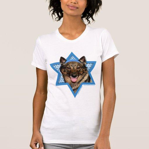 Estrella de Jánuca de David - Vallhund - oso Camisetas