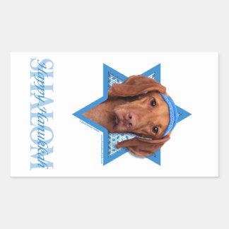Estrella de Jánuca de David - Vizsla - Reagan Rectangular Pegatinas