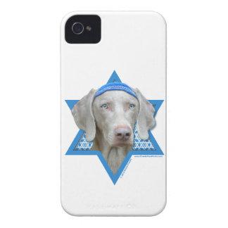 Estrella de Jánuca de David - Weimaraner iPhone 4 Case-Mate Fundas