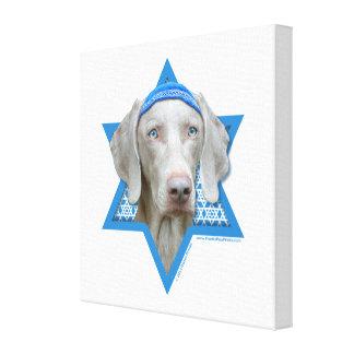 Estrella de Jánuca de David - Weimaraner Impresiones En Lona Estiradas