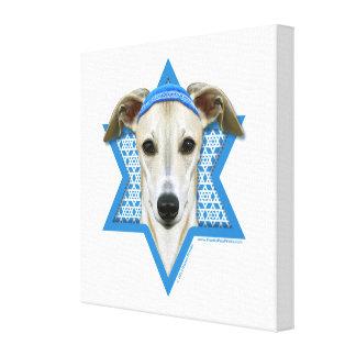 Estrella de Jánuca de David - Whippet Impresión En Lienzo Estirada