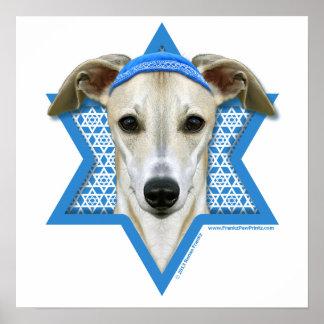Estrella de Jánuca de David - Whippet Poster